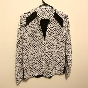 FRNCH Black and White Blouse Size Small